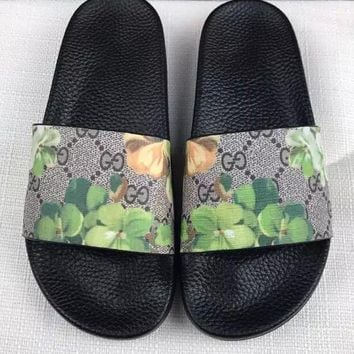 Day-First™ 2017 New Flower print Gucci Casual Fashion Women Sandal Slipper Shoes
