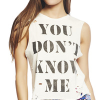 You Don't Know Me Tank | Wet Seal