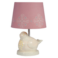 Ceramic Bird Lamp with Night Light by LampStoreOriginals