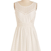Short Length Sleeveless A-line Fave the Date Dress by ModCloth