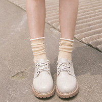 Fashionable Women Socks Funny Plain Candy Color Cotton Socks Women Long Cute Girls Ladies Solid Sock Pile Loose Socks Curling
