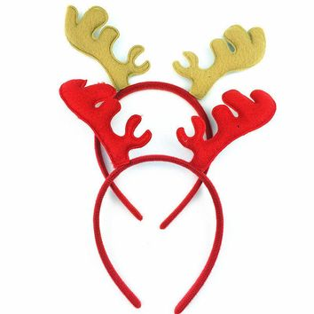 Christmas Headband Antlers Ear Hair Hoop Christmas Party Hair Accessories Deer Hair Buckle Decoratio