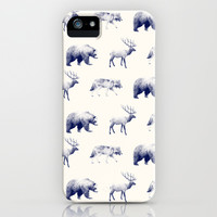 Wild Pattern // Blue iPhone & iPod Case by Amy Hamilton