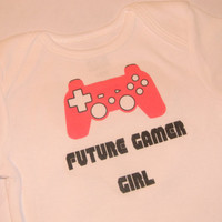 Gamer Girl Baby Geek Onesuit/ Bodysuit. Can Be Customized By Size.