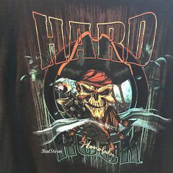 Licensed cool 2018 HARD ROCK CAFE HONOLULU HAWAII Pirate Skull Parrot TEE SHIRT T MEN'S S-2X