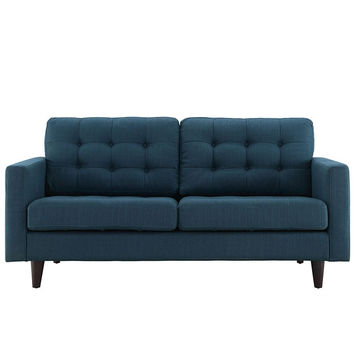 Empress Upholstered Loveseat in Azure