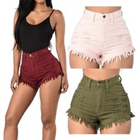 Denim Shorts Fashion Short Jeans for Women Beach Casual