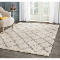 Safavieh Dallas Jerrie Power Loomed Area Rug, Ivory/Grey - Walmart.com