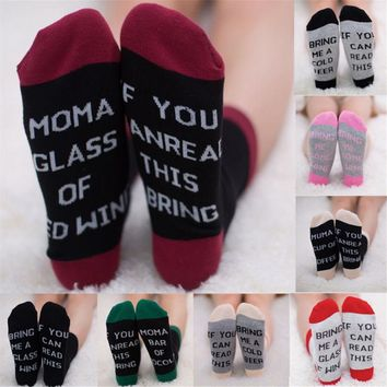 Uk Unisex IF YOU CAN READ THIS BRING ME A BEER Fashion Socks Cotton Funny Socks