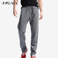 Uwback 2017 Plus Size 4XL New Sweat Pants Men Joggers Pants Elastic Waist Loose Sweat Pants For Men Casual Trousers homme CAA329