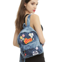 Blue Washed Denim Mini Backpack