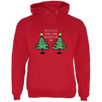 PEAPGQ9 Christmas Tree You've Got a Lot of Balls Funny Mens Hoodie