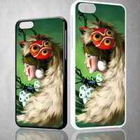 Princess Mononoke Fan Art Z1409 iPhone 4S 5S 5C 6 6Plus, iPod 4 5, LG G2 G3 Nexus 4 5, Sony Z2 Case