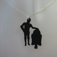 Star Wars C3PO and R2D2 Necklace by casstasstrophe on Etsy