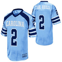 North Carolina Tar Heels :UNC: #2 Youth End Zone Football Jersey - Carolina Blue - http://www.shareasale.com/m-pr.cfm?merchantID=7124&userID=1042934&productID=521145795 / North Carolina Tar Heels