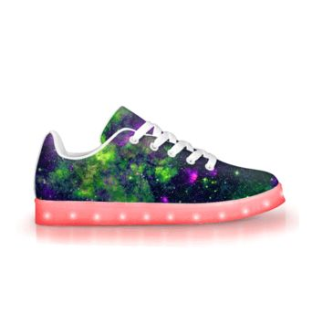 Green Galaxy - APP Controlled Low Top LED Shoes