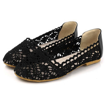 Cutout Flat Heel Shoes
