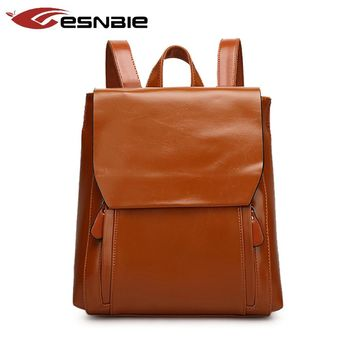 Fashion Women Backpack Youth Leather Vintage Backpacks for Teenage Girls Female School Bag Bagpack mochila sac a dos