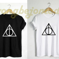 Deathly Hallows Shirt Harry Potter Alchemy Symbol Unisex Tshirt