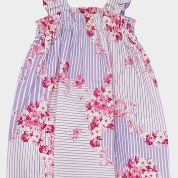 Young Versace Baroque Flower Pinafore Dress for Girls | Official Website