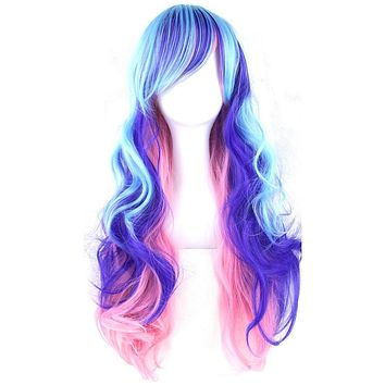 Multicolor Long Hair Wig 70cm
