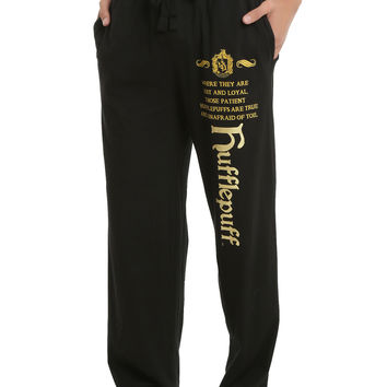 Harry Potter Hufflepuff Foil Men's Pajama Pants