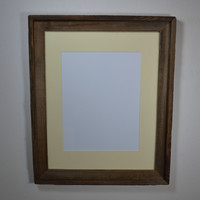 16x20 reclaimed wood picture or poster frame complete with mat shipping included