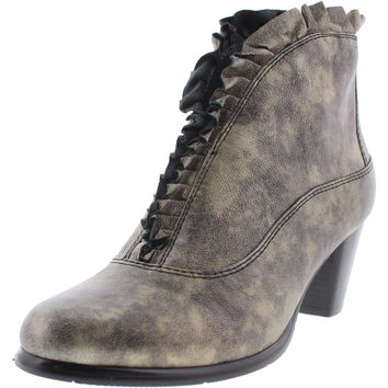 Everybody Womens Kava Leather Booties