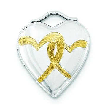 Sterling Silver Gold Plated 20mm Double Heart Locket