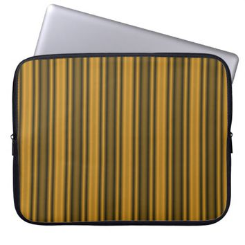 Orange and Black Stripes Laptop Sleeve
