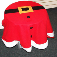 Santa Suit Table Cloth - Designed To Resemble Santa's Suit Complete With Belt And Three Buttons