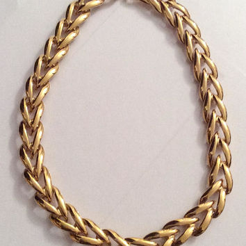 Napier Gold Tone Chain Necklace, Vintage Jewelry, Mid Century SPRING SALE