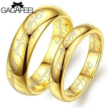 CREYHY3 Fashion Women Man Luxury Vintage European Noble Jewelry Tungsten Carbide Gold Plated Magic Ring High Quality Lover Gifts OR14