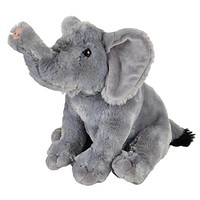 "11"" Elephant Stuffed Animal Plush Floppy Zoo Species Collection"