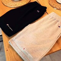 Champion cursive foundation logo embroidered casual Shorts