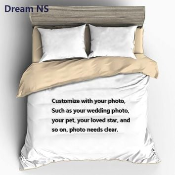 Cool AHSNME Custom Made Bedding Set Your Photo Customized Design Duvet Cover Sets King Queen Twin Size Custom DropshippingAT_93_12