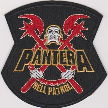 Pantera Iron-On Patch Hell Patrol Logo