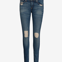 rag & bone/JEAN EXCLUSIVE Midrise Destroyed Skinny: Chester-All-Exclusives-Categories- IntermixOnline.com