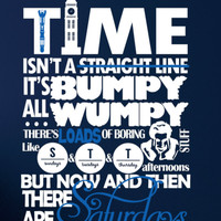 "Doctor Who Inspired Large Wall Vinyl Decal - ""Time isn't a straight line ..."" Bumpy Wumpy Quote - Vinyl Decal Sign"