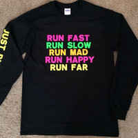 Just Run - Long Sleeve T-Shirt - Runner Tank - Runner - Ruffles with Love