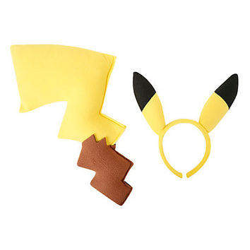 Pokemon Pikachu Tail and Ears Costume Kit