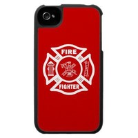 Fire Fighter Maltese Iphone 4 Cases from Zazzle.com
