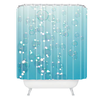 Bree Madden Bubbles In The Sky Shower Curtain