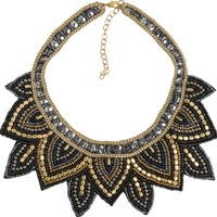 SALINAS BEADED BIB NECKLACE