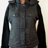 dollhouse:Women's Zip-Front With/Snap Placket & zip Off Hood Jacket,