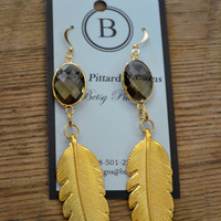 Betsy Pittard Gold Leaf Earrings