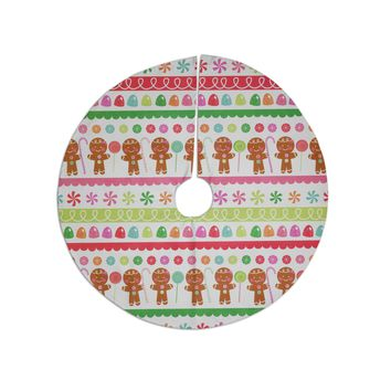 "Heidi Jennnings ""Gumdrop Buttons"" Gingerbread Tree Skirt"