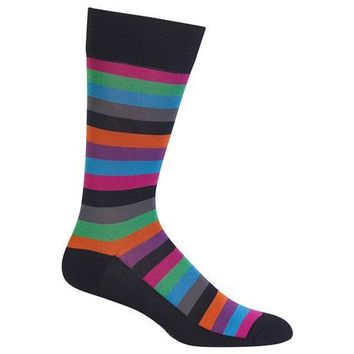 Men's Fun Striped Crew Socks