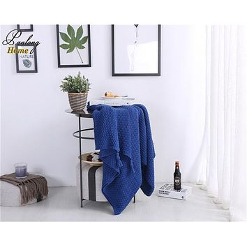 100% Cotton Knitted Tassel Blanket