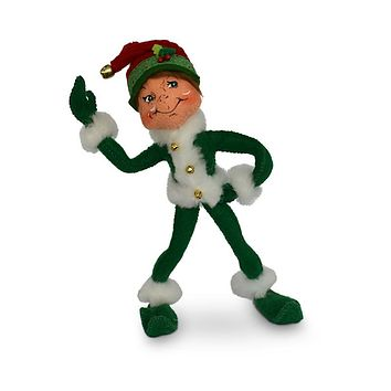 Annalee Dolls 9in 2018 Christmas Jinglebell Elf Green Plush New with Tags